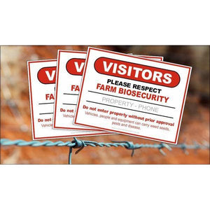 Farm Biosecurity Metal Sign 600x450mm - Carlie Rees Custom Designs