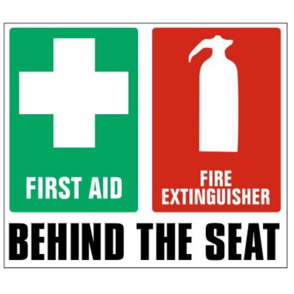 Fire Extinguisher/First Aid Vehicle Sticker 100x80mm - Carlie Rees Custom Designs