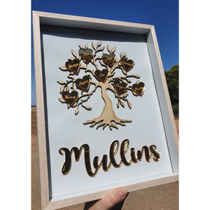 "Framed Family Tree 11x14"" Including Names"