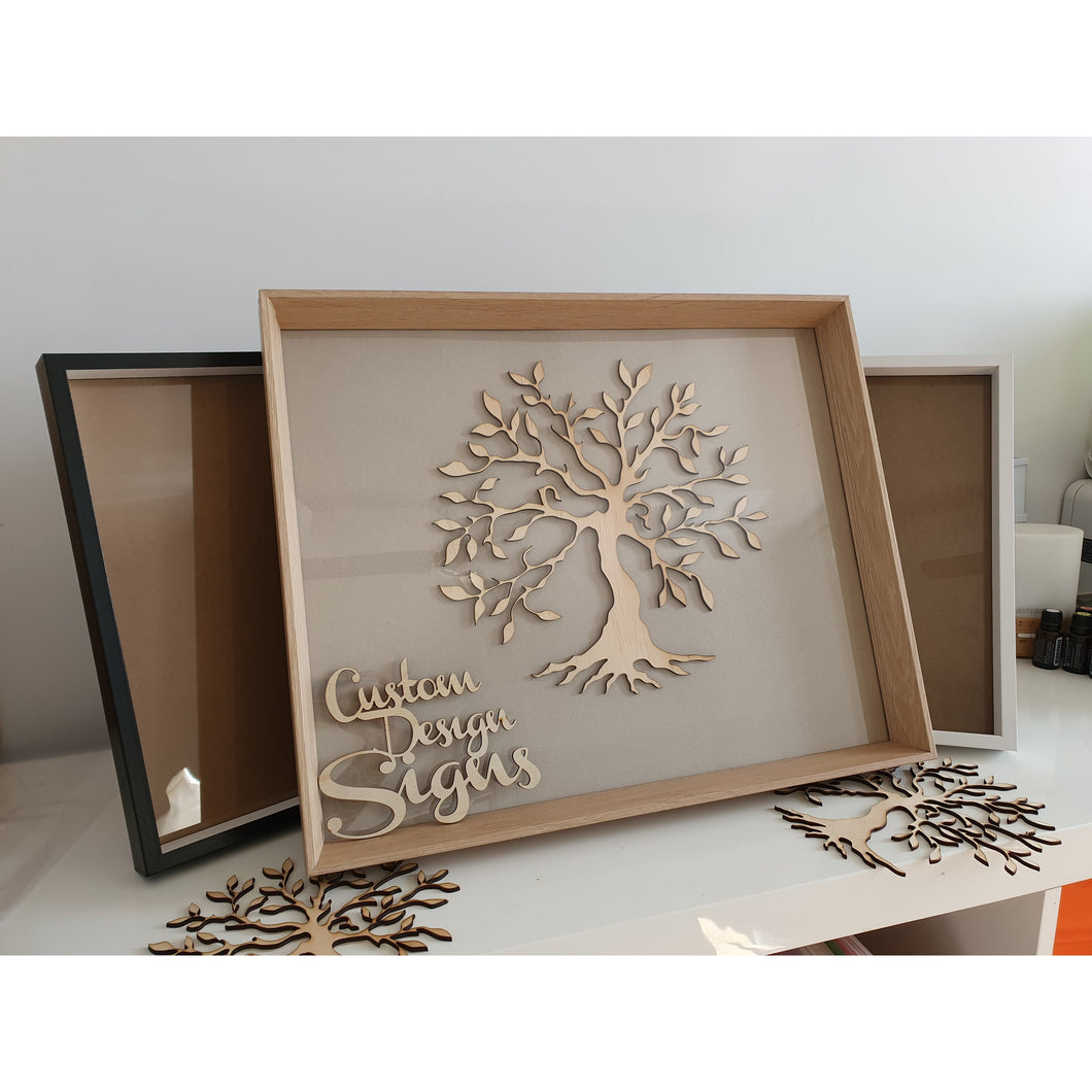 Framed Family Tree 510x400mm Including Names