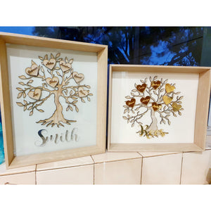"Framed Family Tree 8x10"" Including Names"
