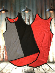 Random Coloured Shearing Singlet - Carlie Rees Custom Designs