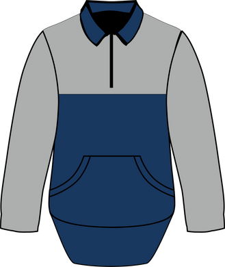 Navy Grey Collared Jumper - Carlie Rees Custom Designs