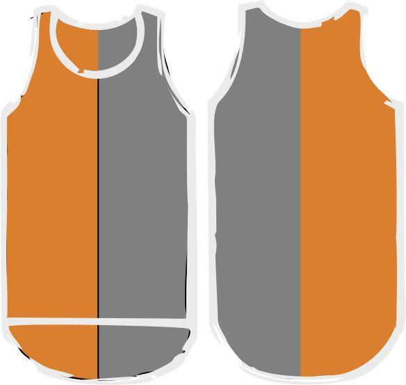 Orange Grey Shearing Singlet - Just Shear