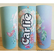 Load image into Gallery viewer, Pastel Blue Dreamcatcher Waterbottle Cover (Suits 750ml) - Carlie Rees Custom Designs