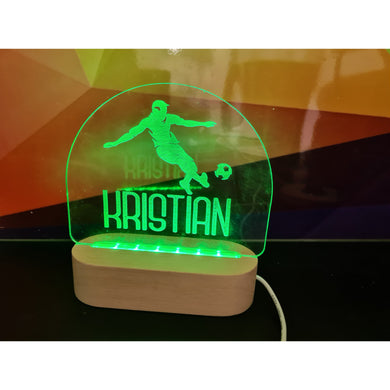 Personalised Wood Base Night Light (RGB Led) - FREE SHIPPING