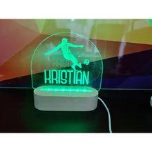 Load image into Gallery viewer, Personalised Wood Base Night Light (RGB Led) - FREE SHIPPING
