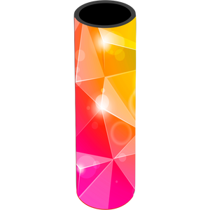 Pink Yellow Bursts Icy Pole Holder - Carlie Rees Custom Designs