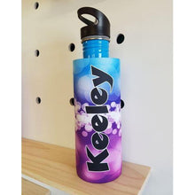 Load image into Gallery viewer, Purple & Blue Bubbles Waterbottle Cover (Suits 750ml) - Carlie Rees Custom Designs