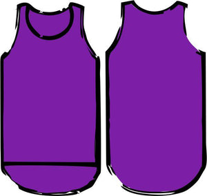Plain Purple Shearing Singlet - Just Shear