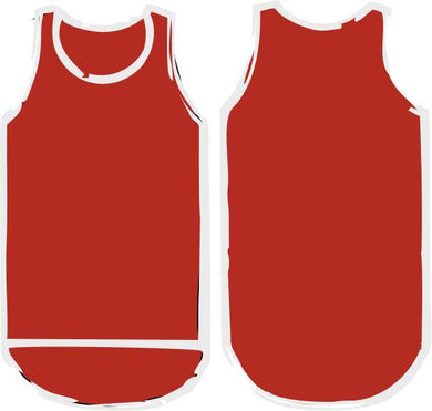 Red Shearing Singlet - Just Shear