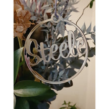 Load image into Gallery viewer, Silver Mirror Christmas Ornament - Carlie Rees Custom Designs