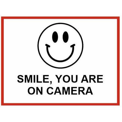 Smile, You're On Camera Metal Sign 300x400mm - Carlie Rees Custom Designs