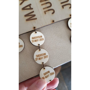 Wooden Birthday Hanger Discs