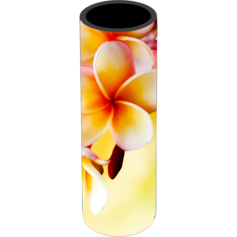 Yellow Frangipani Icy Pole Holder - Carlie Rees Custom Designs