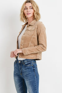 Corduroy Jacket (Available in French Grey and Sand)