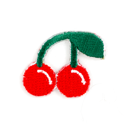 Cherry Embroidered Sticker Patch