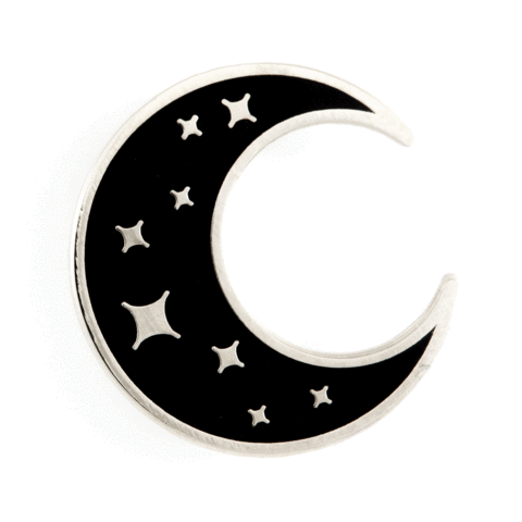 Crescent Moon Enamel Pin