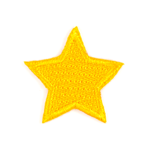 Gold Star Embroidered Sticker Patch