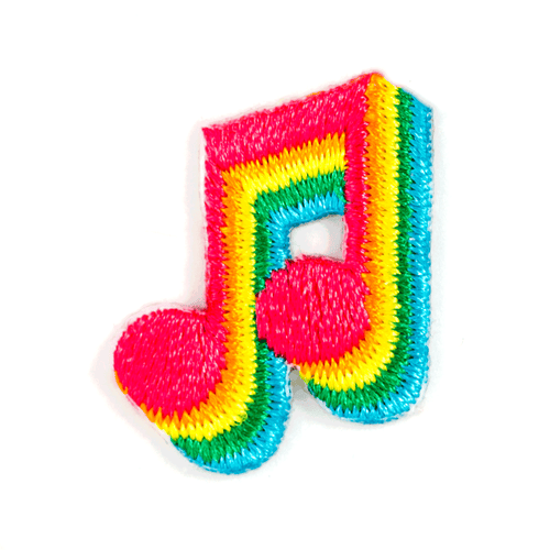 Music Note Embroidered Sticker Patch