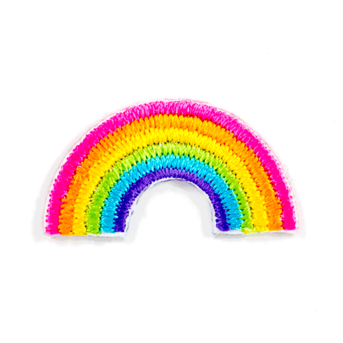 Rainbow Embroidered Sticker Patch