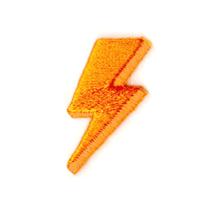 Lightning Bolt Embroidered Sticker Patch