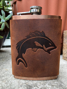 Fish Leather Wrapped Flask