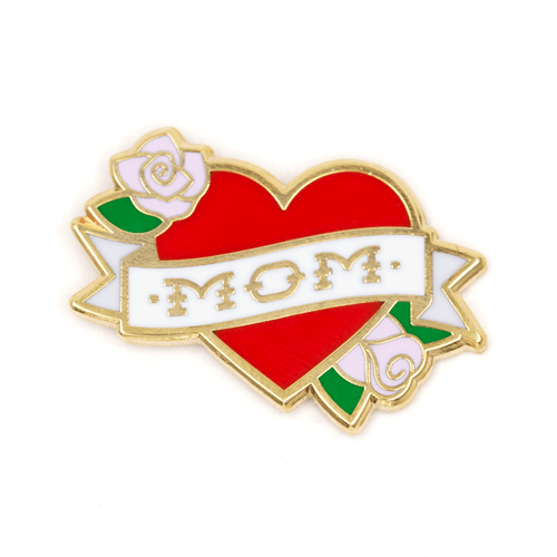 Mom Tattoo Enamel Pin