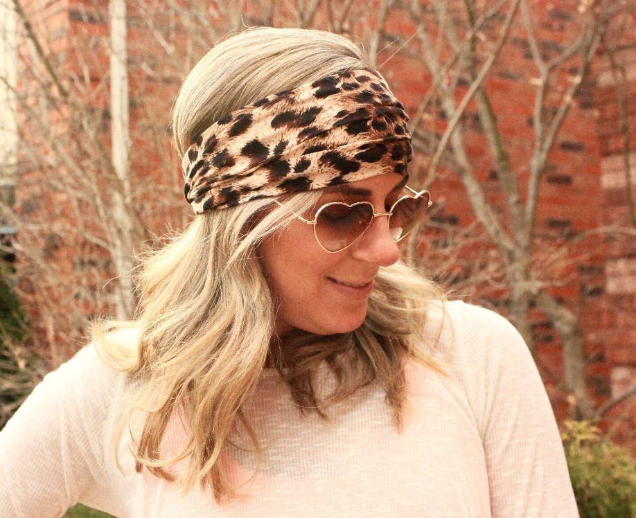Tapered Cheetah Headband