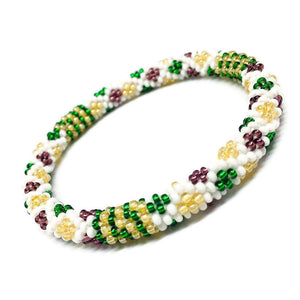 Seed Glass Beads Bracelet Wild Flowers