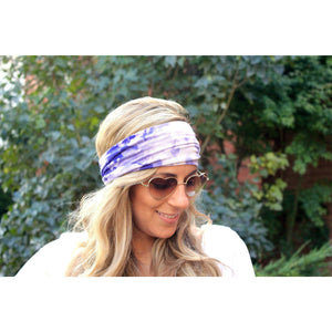 Lilac TyeDye Tapered Yoga Headband