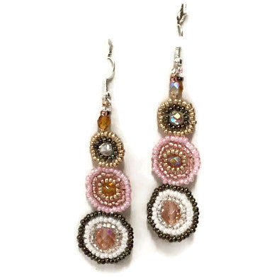 Shades of Pink Solstice Earrings