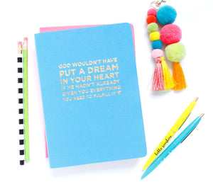 God / Dreams Notebook - Blue