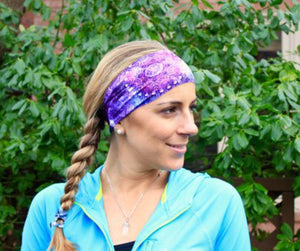 Beautifull Boundaries - Yoga headband purple nebula