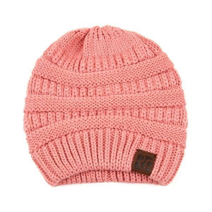 Knitted Beanie Dusty Pink
