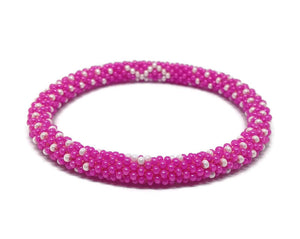 Seed Glass Beads Bracelet - Breast Cancer Awareness
