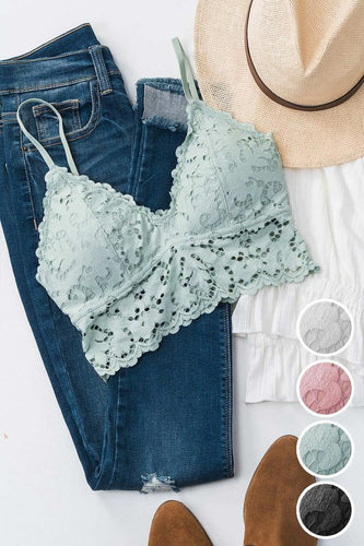 Chunky Lace Bralette in Multiple Colors (Small)