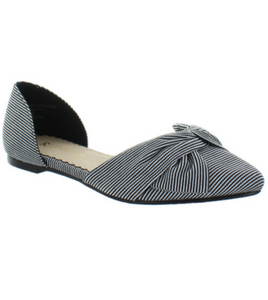 Jessa Stripe Point Flat Shoe