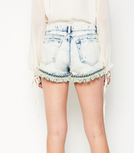 Bleached Denim Short