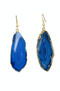 Small Agate Slice Earring (Multiple Colors)