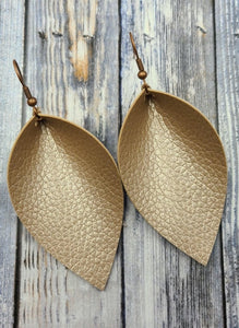 Metallic Petal Earrings