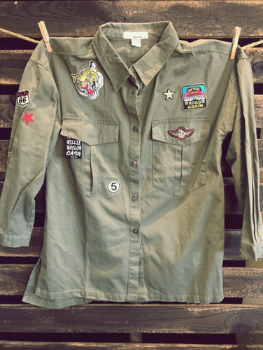 Patchwork Military Jacket