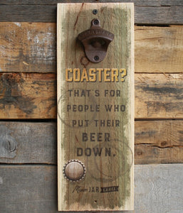 Coaster Wall Bottle Opener