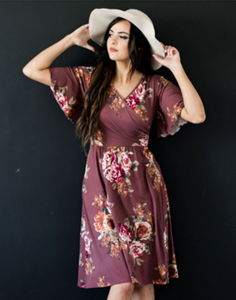 McKinley Mauve Rose Floral Dress