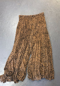 Leopard Pleat Pant (Also Available in Black)