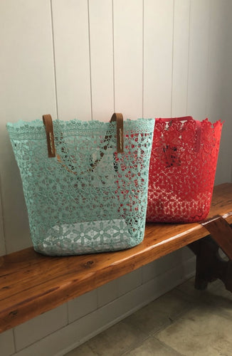 Molded Lace Tote