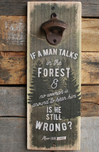Forest Wall Bottle Opener