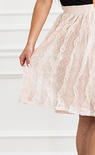 Lace Pleat Skirt