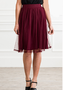 Tulle Skirt (Available in Black and Burgundy)