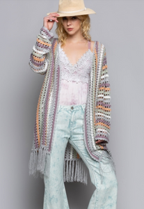 Long Crochet Cardigan